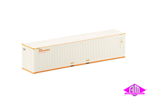 40 Foot Container SCF Rail Containers White & Orange V1 - Twin Pack CON-132