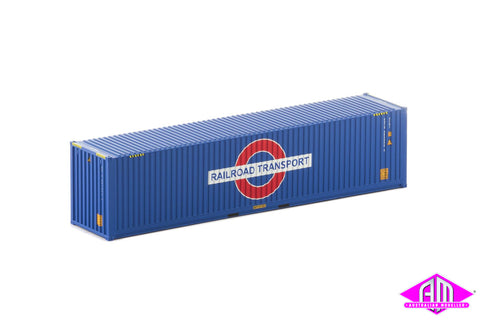 40 Foot Container Railroad Transport Blue - Twin Pack CON-138