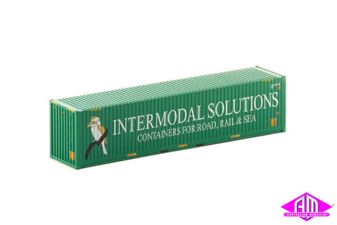 40 Foot Container Intermodal Solutions Green V1 - Twin Pack CON-142