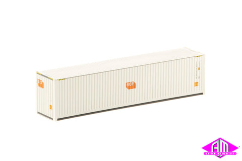 40 Foot Container SCF White with Small Orange Logo V4 - Twin Pack CON-148