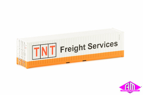 40 Foot Container TNT Freight Services Orange & White Twin Pack CON-31