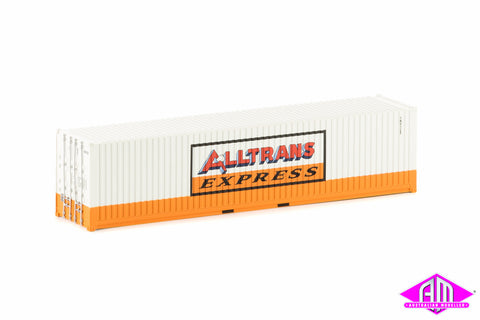 40 Foot Container Alltrans Express Orange & White Twin Pack CON-33