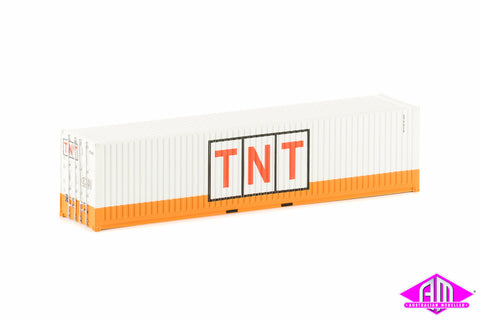 40 Foot Container TNT Large Logo Orange & White Twin Pack CON-36