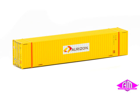 48' High Cube Container Aurizon Yellow orange posts Twin Pack CON-57
