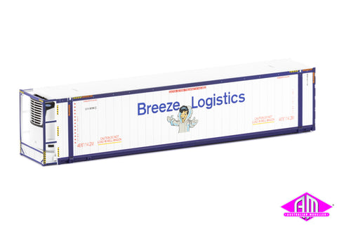 "46'6"" Reefer Container Breeze Logistics V2 White/Blue Twin Pack CON-81"