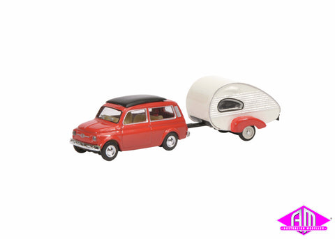 Fiat 500 Combi with Home Trailer