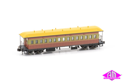 FO Passenger Cars TR interurban Mansard roof early Twin Pack (N SCALE)