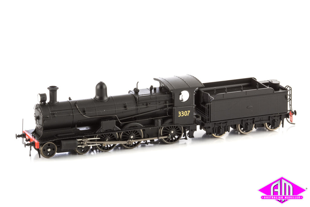 NSWGR 32 Class Locomotive 3307 with 6-wheel P Class tender