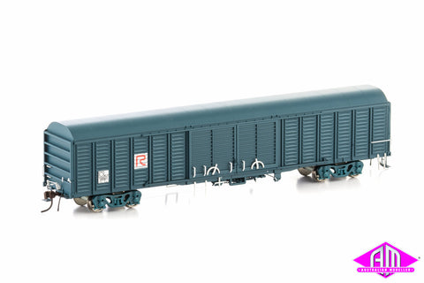 KLY Louvered Van State Rail PTC Blue 4 Car Pack KLY-1