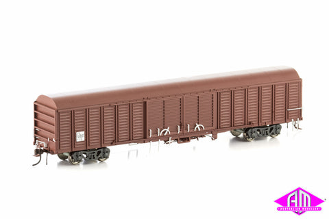 NLKY Louvered Van State Rail SRA Red 4 Car Pack KLY-6