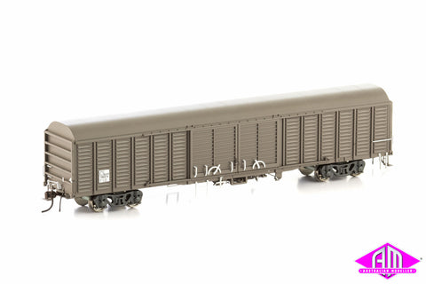 NLKY Louvered Van State Rail Weathered Brown 4 Car Pack KLY-8