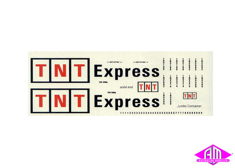 TNT EXPRESS decal LCD-9