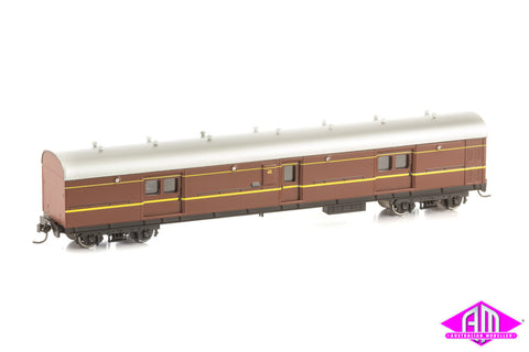 LHO Passenger Brake Van 1615 Deep Indian Red With Silver Roof