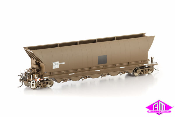 Rhch Coal Hopper Patch Job Weathered Brown 8 Car Pack