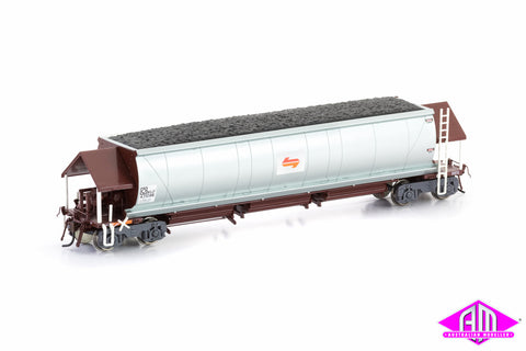 NHJF Coal Hopper State Rail (Candy L7) PTC Red & Silver 6 car pack NCH-31