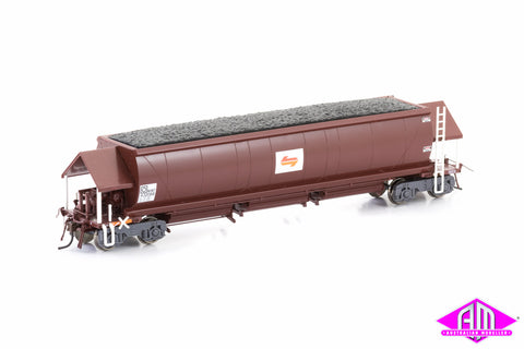 NHKF Coal Hopper State Rail (Candy L7) PTC Red 6 car pack NCH-33