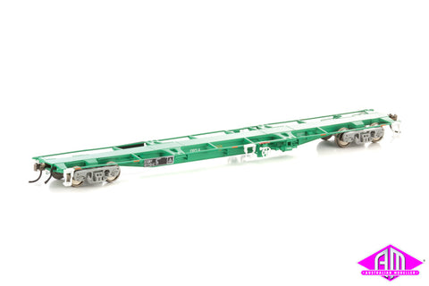 CQBY 60' Container Wagon 5-car pack (Mk 1 CFCLA green) NCW-13
