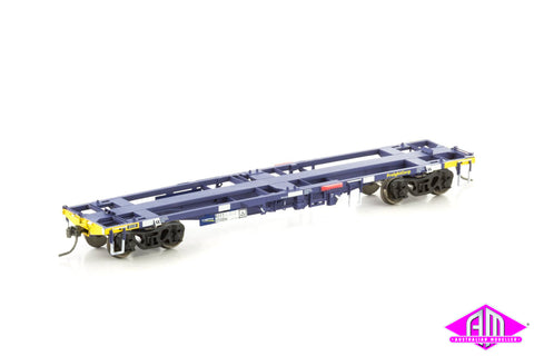 NQYY Container Wagon, FreightCorp Blue & Yellow - 4 Car Pack NCW-28