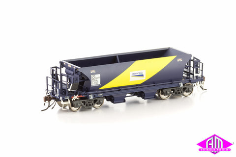 NDFF Ballast Hopper FreightRail blue & yellow 4 car pack NBH-7