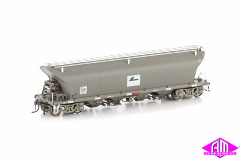 NGKF Grain Hopper, Faded (L7) Weathered Grey without Roof Walks, 4 Car Pack NGH-7