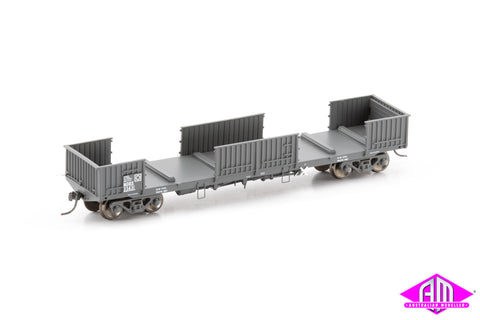 NOBX Open Wagon with Doors Removed, NSWGR Gunmetal - 4 Car Pack NOW-16