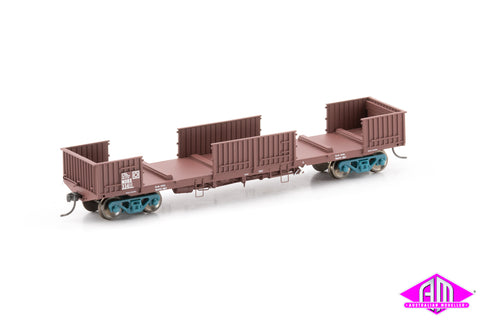 NOBX Open Wagon with Doors Removed, SRA Red - 4 Car Pack NOW-18