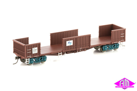 NODY Open Wagon with Doors Removed, SRA Red, 4 Car Pack NOW-6