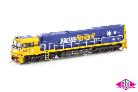 NR Class locomotive NR110 Pacific National (Stars) - Blue & Yellow (NR-25)