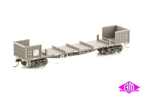 RKGF Steel Wagon with Sides Removed, Pacific National Weathered Grime, 4 Car Pack NSW-12