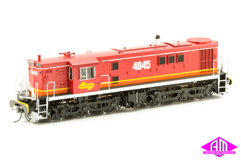 O Scale 48 Class 4845 Candy with Red Roof, Yellow L7, single marker lights & buffers O48-6