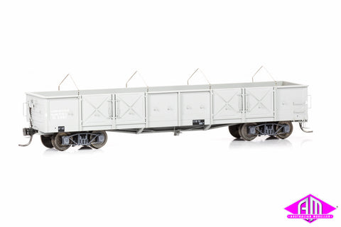 OB Bogie Open Wagon - SAR Grey Pressed Metal Door, 2 Arch Bar Bogies (2 Pack)