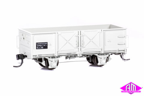 OF Open Wagon - SAR Grey, Pressed Metal Doors, Friction Bearings (3 Pack)
