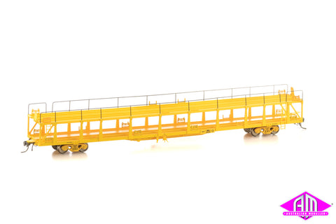 BNX-WMX WAGR Car Carrier 4 CAR YELLOW SET 1972 No's 34021,029,025,523 (PK9)