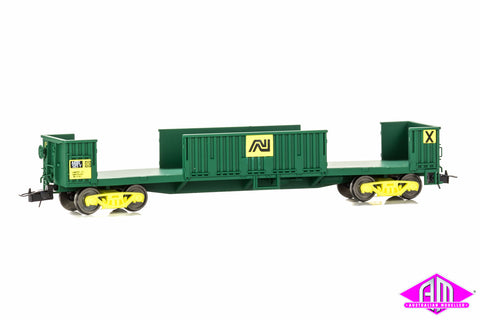 AKBX Slab Steel Wagon - AN Green with Kadee Couplers