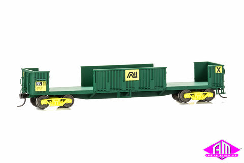 rKBX Slab Steel Wagon- AN Green with Kadee Couplers