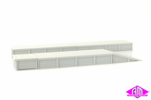 RC1002FRE NSWR Timber Platform - 3 x Straight Extensions, 1 x Ramp & 1 x Square End