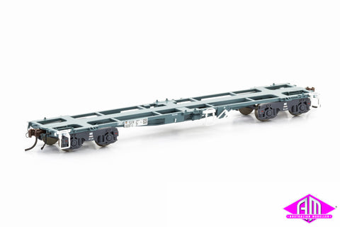 RQIW 45' Container Wagon National Rail Blue/Grey 5 Car Pack NCW-7