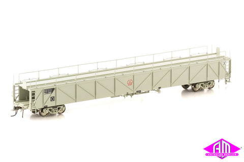 ALX Plain Metal Sided Car Carrier, Grey with SAR Logo, 4 Car Pack SCC-1
