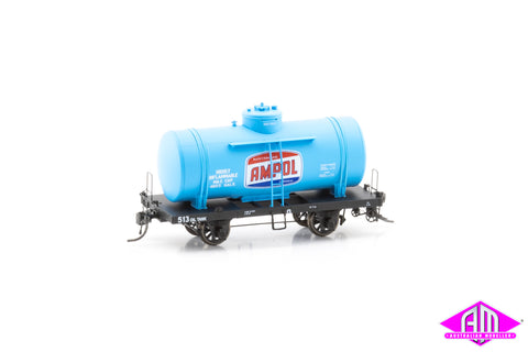 OT 4-Wheel Rail Tank Car OT 513 Ampol (Single Car)