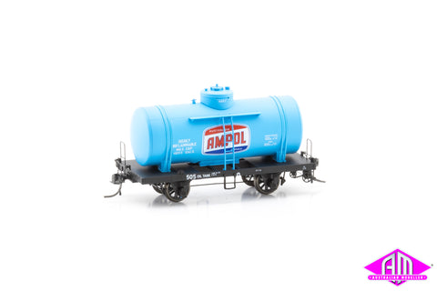 OT 4-Wheel Rail Tank Car OT 505 Ampol (Single Car)