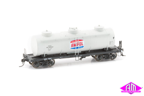Victorian Railways 10,000 Gallon Tank Car Ampol Grey TWF 349 Single Car