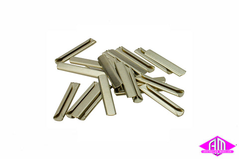 SL-710FB O Scale Flat Bottom Metal Rail Joiners (