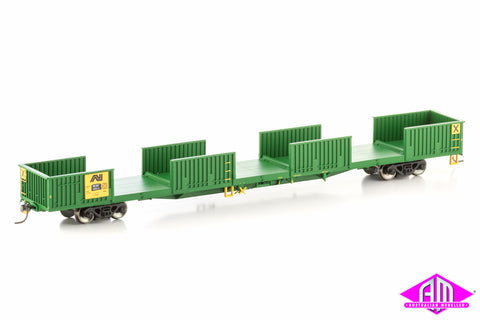 ROKX Open Wagon without doors, Australian National Green/Yellow, 4 Car Pack SOW-11