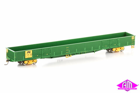 AOOX Open Wagon with doors, Australian National Green/Yellow, 4 Car Pack SOW-7