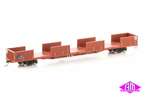 RKWF Open Wagon without doors, ANR Red, 4 Car Pack SOW-9