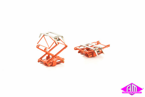 Pantographs NSW Late Style Red - 1 Pair SP-48