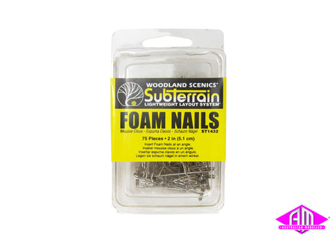 Foam Nails 5cm (75pc)