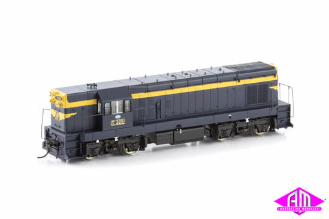 "T Class Locomotive T325 VR Blue & Gold with 9"" Gold Stripe & Fabricated Bogies (1955-1957 Era)"