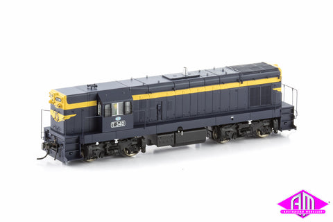 "T Class Locomotive T340 VR Blue & Gold with 9"" Gold Stripe & Cast Steel Bogies (1957-1970 Era)"