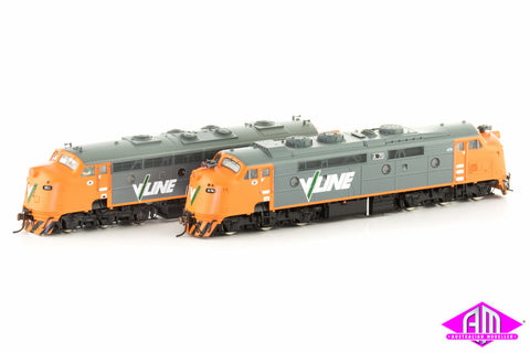 Limited Edition Loco Twin Pack - V/LINE (orange & grey) liveried A79 & B82